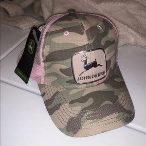 NWT John Deere Pink Camo Hat